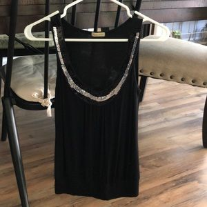 Cute black and sparkle tank